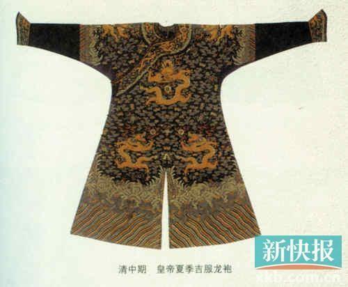 图案 龙袍/古代中国人缔造出了很多瑞兽,比如龙、麒麟、凤凰等,尤其是...