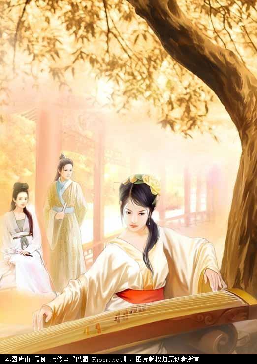 手绘美人图欣赏 灌水·图片 论坛