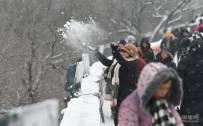 图集丨长城内外白雪茫茫 游客雪中游延庆八达岭