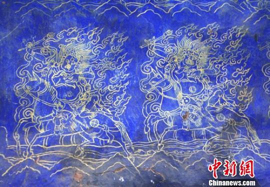 四川省甘孜县汉人寺发现元代壁画